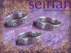 Rwy'n dy garu di (Welsh for I love you) silver ring made to commission by me and available from www.seirian.me £40