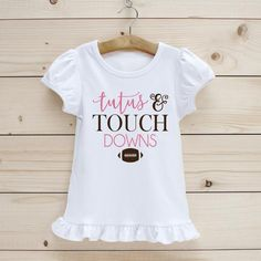 Tutus and Touchdowns | Etsy Making Shirts, Girls Tees, Football Shirts, Cute Tops, Kid, Pairs, Etsy, Color, Women