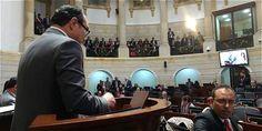 El magistrado de la Corte Constitucional Jorge Pretelt interviniendo en el…
