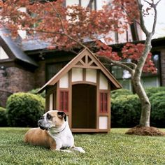 Tudor Revival-Style Doghouse