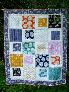 """great prints and pattern!  similar to the """"mix tape"""" pattern, but easier with the solid alternating squares."""