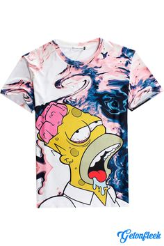 Brain Dead Homer Tee - Shop our entire collection of all-over-print apparel 2d23f2ab7