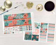 Pinning for later! These stickers are perfect. Available at Crafted By Corley on Etsy. A Rose is a Rose Monthly Sticker Set - Monthly Planner Stickers Monthly Planner Kit May Monthly Kit for use with ERIN CONDREN LifePlanner by CraftedByCorley