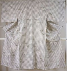 Kimono Dress Japan Geisha costume used Japanese Vintage Komon 1610U5S17