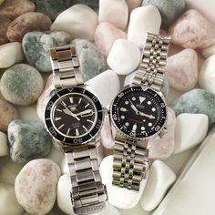 Preety good combination.. #seiko #skx007 #skx009 #snzh55k1 Both in daily rotation. #watch #divers #seiko5 #seikodivers