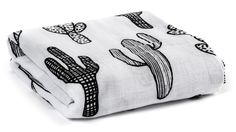 NEW Organic Cotton Muslin Swaddle Blanket -  Cactus
