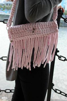 Handbag Olivia, handmade by Madila with eco friendly Tshirt yarn, Zpagetti or Trapillo  https://www.etsy.com/uk/listing/206219626/handbag-olivia-handmade-with-eco?ref=shop_home_active_7