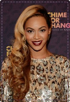 Beyonce's side swept curls