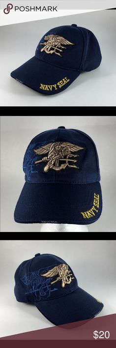 767b97e83a8 US NAVY SEAL Baseball Cap Hat Trident Embroidered US NAVY SEAL Blue Baseball  Cap Hat Trident