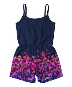 Take a look at this Navy & Pink Heart Romper - Toddler & Girls today!