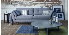 Zinc 3 Seater Sofa Zinc | DFS French Connection collection at DFS