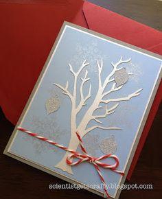 Handmade Christmas card #diy #lasercutter #silhouette