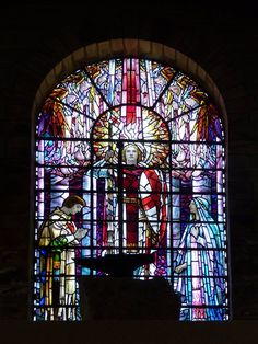 King Arthur's Hall Tintagel Cornwall Masonic Lodge. Biggest collection in the world of 20th century King Arthur related stain glass windows. Arts and Crafts hall
