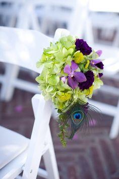 Peacock wedding ceremony decor