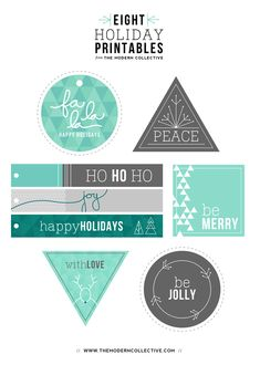 Eight Holiday Printable FREEBIES
