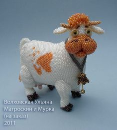 Волховская Ульяна - makes beadwork dolls, animals, figures - that page also has tutorials. Some free, some not.