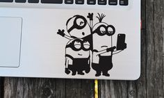Minions vinyl decal, Selfie Minions, macbook decal, car decal, wall decal, macbook sticker, wall sticker, kids party by EasyDecal on Etsy https://www.etsy.com/listing/267979019/minions-vinyl-decal-selfie-minions