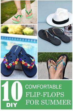 10 DIY Comfortable Flip-Flops for Summer
