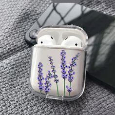 Iphone 11 Discover Lavender AirPods Case Custom Personalized Cover For Apple Air Pods Apple Headphones Case floral AirPod case clear AirPods Cases Personalized Iphone Phone Cases, Iphone 8, Fone Apple, Les Inventions, Cute Ipod Cases, Accessoires Iphone, Earphone Case, Air Pods, Makeup Products