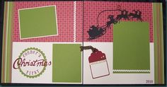 Christmas Layouts | Krista's Stampin' Studio: First Christmas Scrapbook Layout
