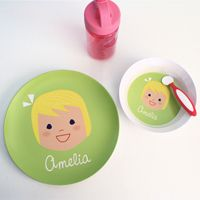 Personalized Melamine Plates and Bowls Baby Plates, Kids Plates, Plates And Bowls, Baby's First Birthday Gifts, First Birthdays, Birthday Ideas, Cute Gifts, Baby Gifts, Clear Glass Plates