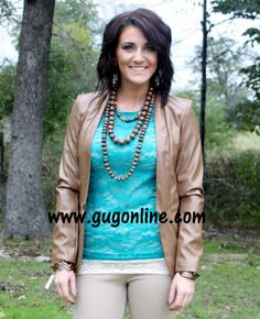 Lace Blouse Jade $13.95-$20.95 www.gugonline.com