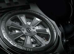 The rotors on the new Breitling for Bentley watches are inspired by Bentley wheel rims.