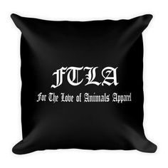 FTLA Apparel Signature Logo Square Pillow