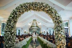 Destaque para o lindo décor da cerimônia - Casamento Amanda Abreu e Noman Khan