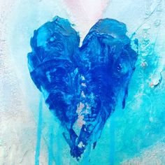 BLUE LOVER painting, Celli Art