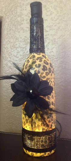 Wine bottle light by evansmom99 on Etsy, $25.00