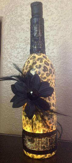 Wine bottle light by evansmom99 on Etsy, $25.00
