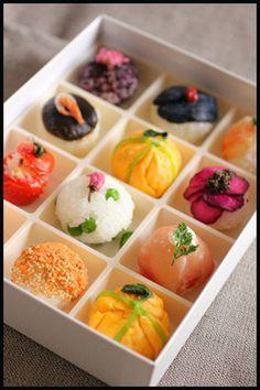 お花見弁当*手まり寿司10種類*|レシピブログ