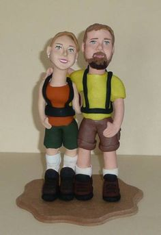 Personalized Hiking Attires in Wedding Cake Toppers For Sports people
