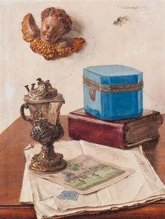 Oswald Eichinger, (German, b. Jewel Box and Cherub, circa Cherub, Jewel Box, Decorative Boxes, German, Presents, Jewels, Art, Deutsch, Gifts