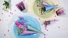 Blumen-Tütchen #flowers #table #decor #sweet #diy #decoration