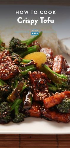 How to Cook Crispy Tofu Worth Eating Broccoli Recipes, Veggie Recipes, Asian Recipes, Appetizer Recipes, Healthy Recipes, Weeknight Recipes, Entree Recipes, Tofu Dishes, Vegan Dishes