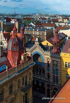 Tejados de Praga, República Checa.