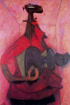 Hombre con guitarra-Rufino-Tamayo-1950