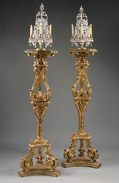 *1700 French Candlestands at the Metropolitan Museum of Art, New York #baroque