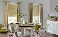 Kensington curtains in Dijon and Sion Mimosa roman blinds from Style Studio. Gold / yellow curtains and roman blinds Cheap Windows, Blinds For Windows, Made To Measure Blinds, Vibeke Design, Yellow Curtains, Fabric Blinds, Yellow Interior, Curtain Styles, Inspired Homes