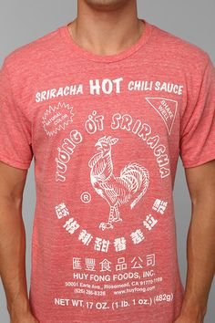 Sriracha Tee. You love the sauce, now wear the shirt. From Urban Outfitters