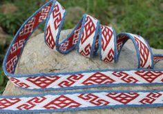 Tablet woven trim, hallstatt pattern, tablet weaving, viking medieval, reenactment, sca, larp by AriaDiBari on Etsy