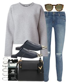 Sin título #3036 by hellomissapple on Polyvore featuring polyvore, fashion, style, T By Alexander Wang, Paige Denim, Senso, Valentino, Forever 21 and CÉLINE