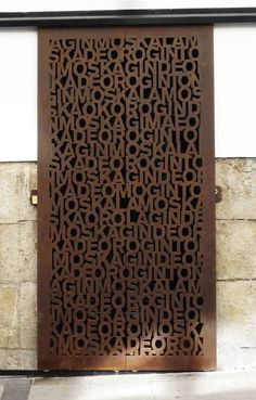 Love this rusted steel door in Barcelona (not our work). We're making something right now kind of like this, stay tuned...