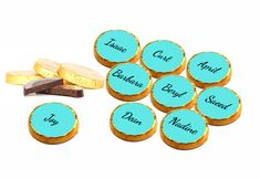 Delight your guests with their own personalised mint crisps. Minimum order is 50 pieces. Personalized Chocolate, Personalized Baby, Hen Party Bags, Hens Night, Team Bride, First Contact, Label Design, Chocolates, Lip Balm