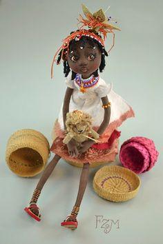 """Muñeca de colección """"Flower doll"""""""
