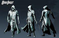 Moon Knight costume design by pungang on DeviantArt Marvel Comics, Punisher Marvel, Marvel Comic Books, Marvel Art, Marvel Heroes, Marvel Characters, Comic Books Art, Comic Art, Daredevil