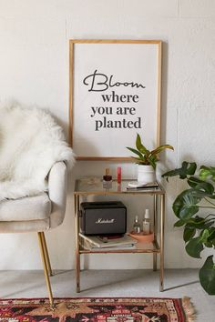 Bloom Quotes, Home Office, Funny Wall Art, Letter Wall Decor, Motivation Wall, Bloom Where You Are Planted, Style Deco, Room Ideas Bedroom, Room Decor