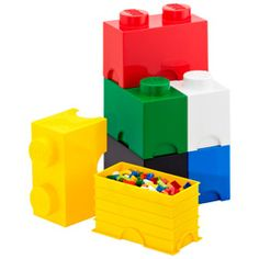 Lego storage containers from The Container store